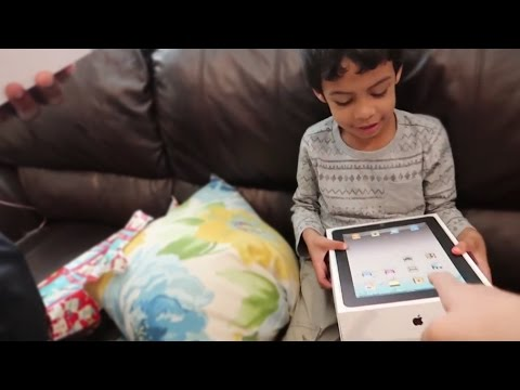 kid gets a fake iPad for Christmas! MUST WATCH!!!