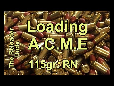 Acme Bullet 9mm 115gr Load Development And Discussion Youtube