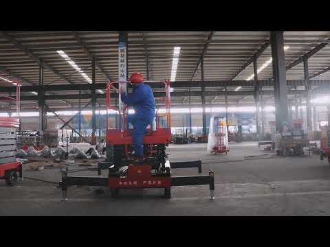 How To Operate 7m Trailer Moving Mobile Scissor Lift From MORN LIFT Factory?