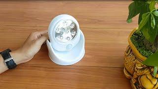 Mở hộp đèn LED cảm biến chuyển động