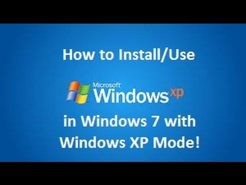 Windows XP Mode - Installation in Windows 7 - YouTube
