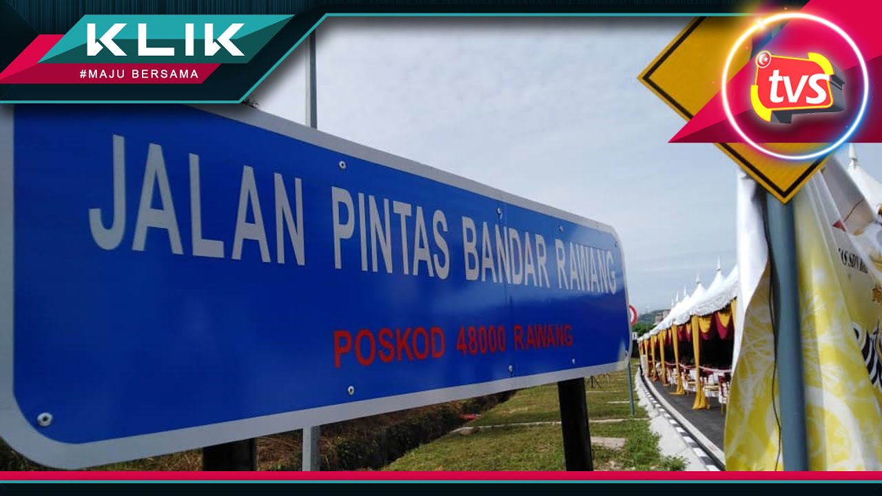 Jalan Pintas Bandar Rawang Dibuka Jimat 15 Minit Youtube