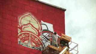 shepard fairey obey rise above rebel paris juin 2012