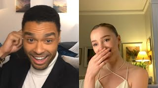 The stars of 'Bridgerton' Regé-Jean Page and Phoebe Dynevor spill on behind the scenes juiciness
