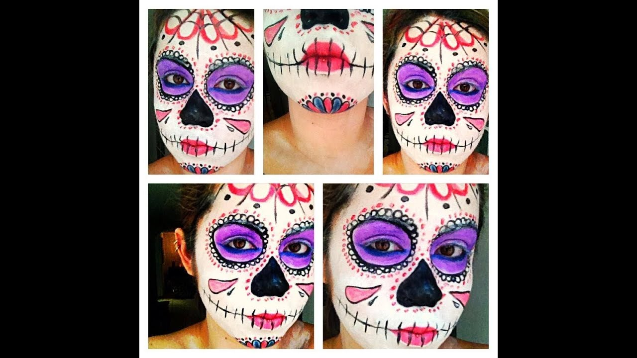 Liedschatten Schminken Halloween Make Up: Sugar Skull/mexikanische Totenmaske