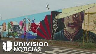 Reconocen con un récord Guinness el muro fronterizo pintado con lápiz entre Paraguay y Argentina