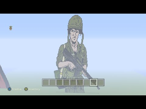 Minecraft Pixel Art Vietnam War U.S. Soldier Part 4