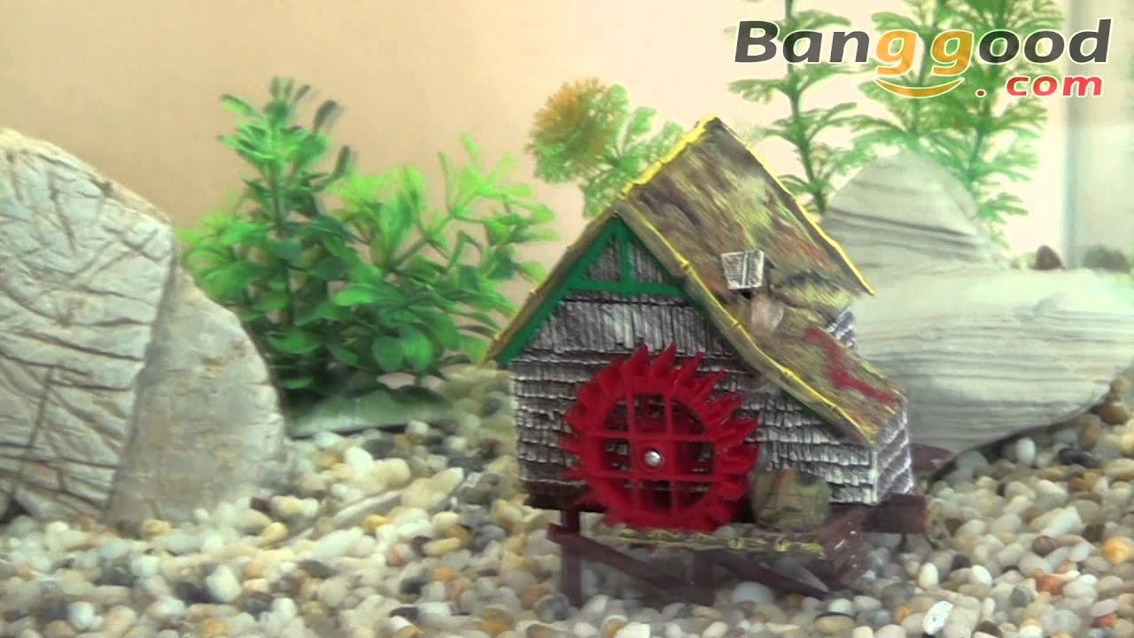 Rice mill action air aquarium decoration ornament 0 14 for Aquarium airplane decoration