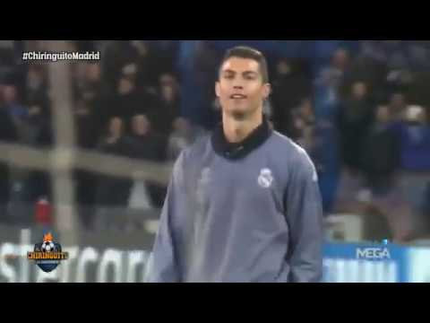 Napoli Fans Crazy Reactions To C.Ronaldo Warming Up Before The Champions League Game