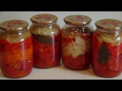 Овощные салаты (заготовки на зиму).