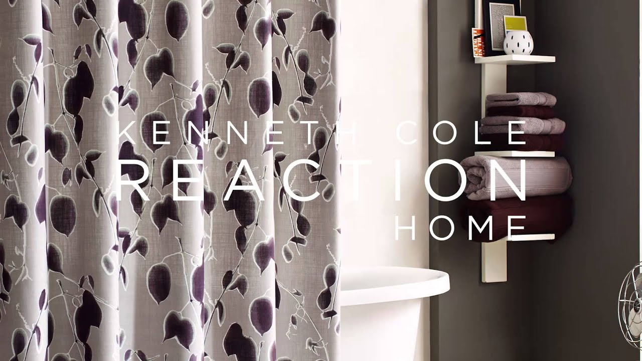 Kenneth Cole Reaction Home Shade Shower Curtain at Bed Bath  Beyond YouTube