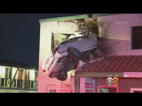 Car Crashes Into Second Floor of OC Office Building