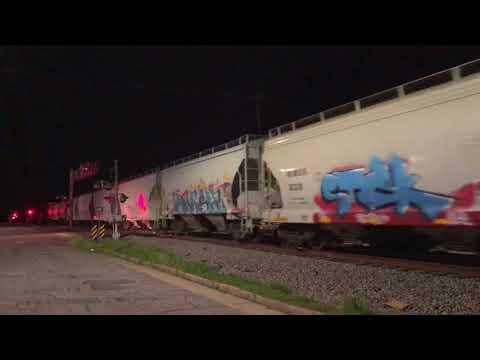 CSX Q410-13 struggles through Dunn NC w/ a heavy train & 2 ES40DC's putting in work..