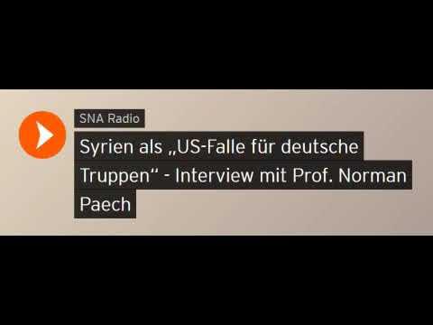 """Syrien als """"US-Falle für deutsche Truppen"""" - Interview mit Prof. Norman Paech (Sputniknews)"""