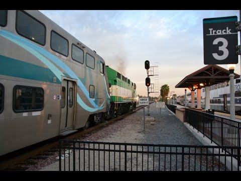 Trains at Fullerton, CA