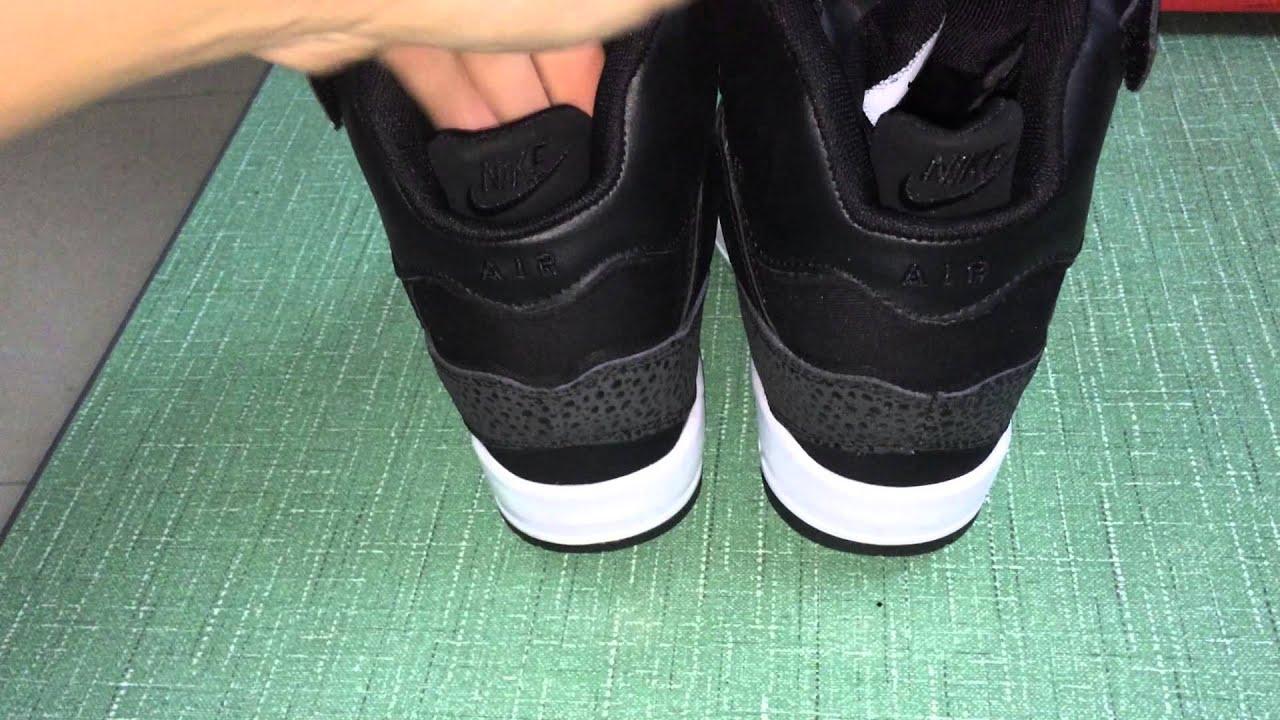 93ec264a80251 Women Nike Air Revolution Sky Hi Black White Shoes - YouTube