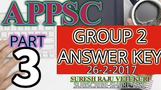 APPSC GROUP 2 SCREENING TEST  KEY  26-2-2017 PART 3