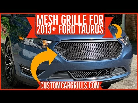 Ford Taurus 2013+  Mesh Grill Installation How-To by customcargrills.com