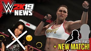 WWE 2K19: *NEW* MATCH!, AJ Lee RETURNING?!, Ronda Rousey MODEL & NEW CONFIRMS! (#WWE2K19 News)