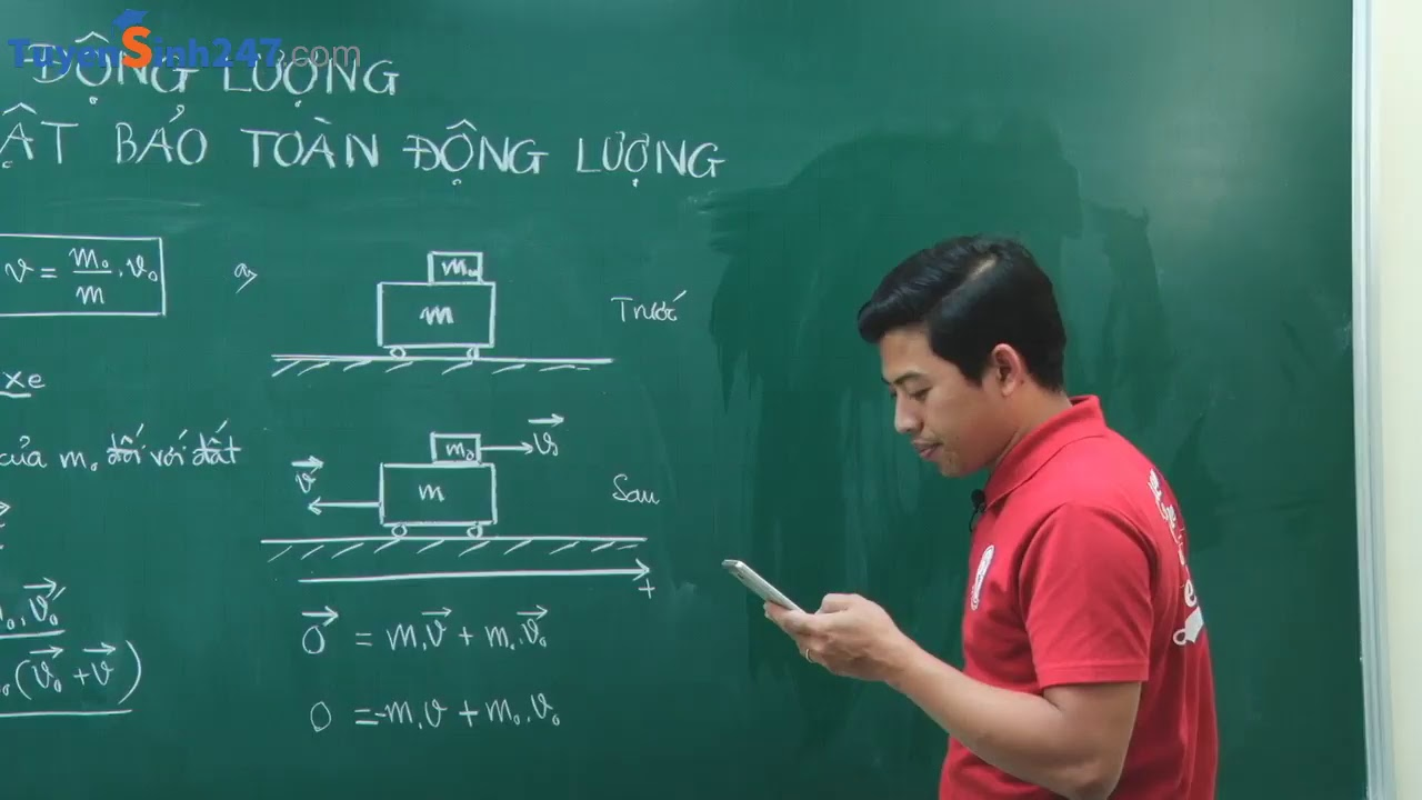 Bài tập động lượng – Định luật bảo toàn động lượng – Vật Lí 10 – Giáo viên : Phạm Quốc Toản
