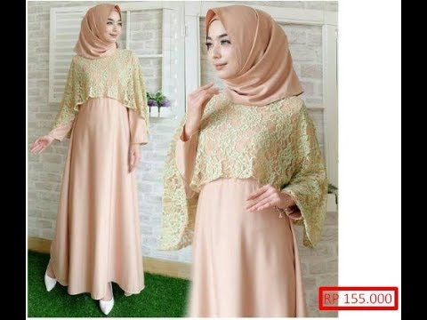 Model Baju Brokat Satin Modern 2017 2018 Paling Trendy