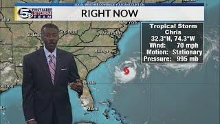 Tropical Storm Chris Steady