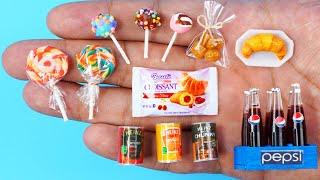 26 EASY DIY MINIATURE BARBIE IDEAS ~ Mini Pepsi , Heinz , Croissant, lollipop and more!