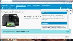 HP Officejet Pro 8610 Printer Driver, Download