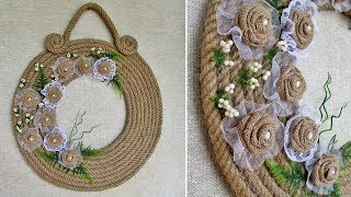 The decor is made by hand from a jute rope. Home decor