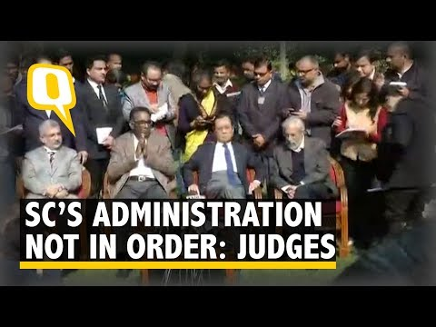 Supreme Court Judges Chelameswar, Gogoi, Joseph and Lokur Target CJI Misra | The Quint