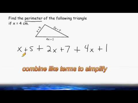 Perimeter Of A Triangle When The Sides Are Expressions - YouTube