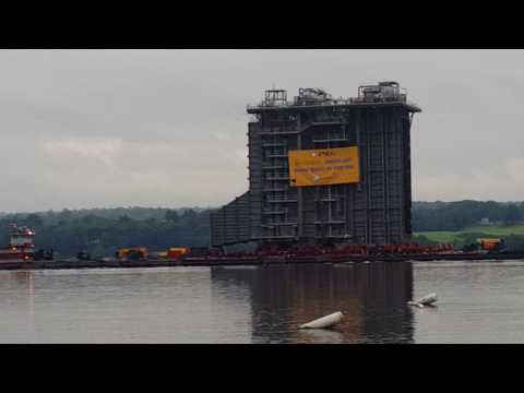 GIANT STEAM ENGINE, HUDSON RIVER, KINGSTON POINT BEACH,8/7/17