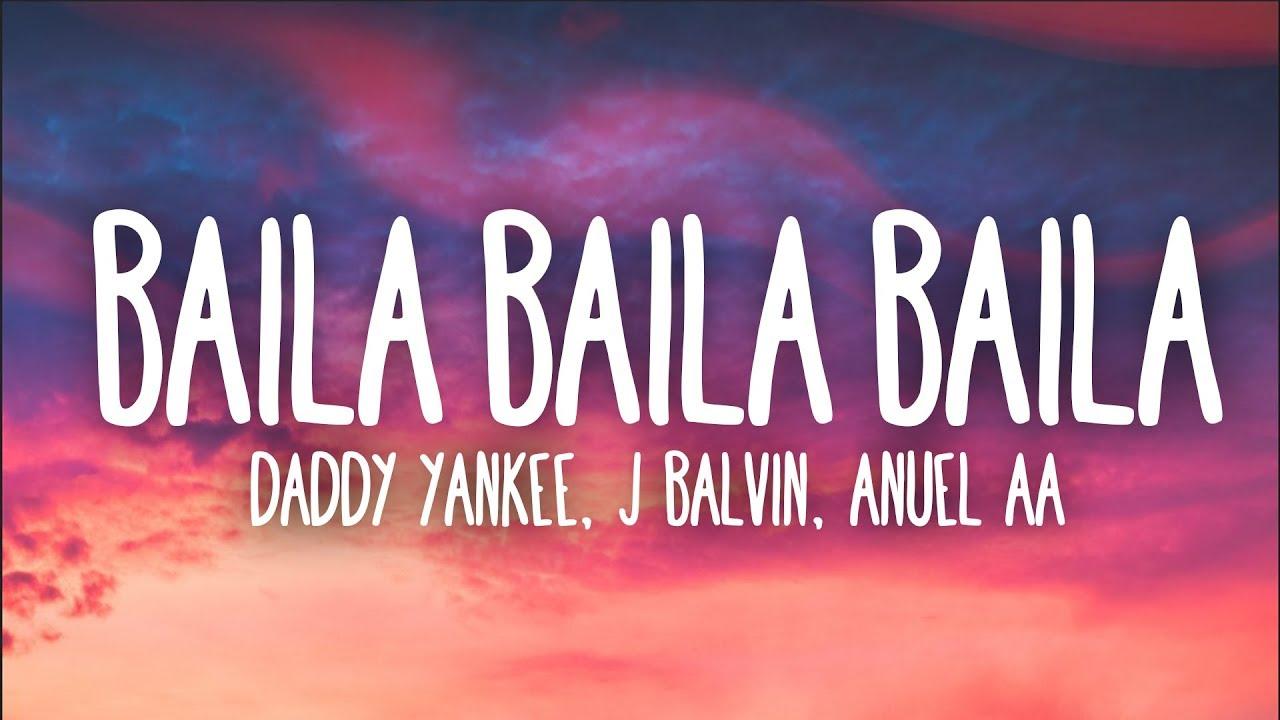 Ozuna, Daddy Yankee, J Balvin, Anuel AA - Baila Baila Baila (Remix) (Letra) #1
