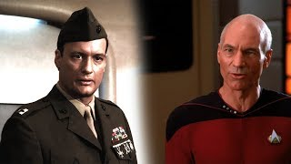 TNG Lore : Q bashes the Military and Judges Humanity