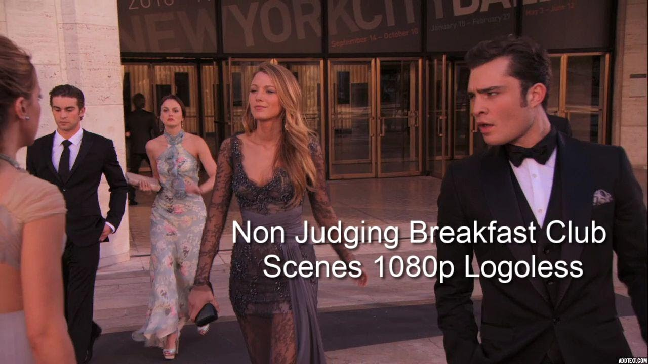 Download Non Judging Breakfast Club ( Nate Blair Chuck Serena ) Gossip Girl logoless scenepack |  1080p