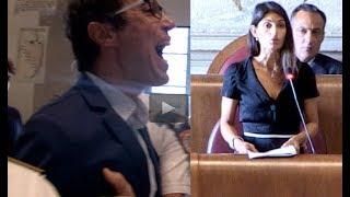 """Atac, bagarre in aula, scontro Magi-Raggi: """"Incapaci"""" e lei: """"Non si privatizza"""""""