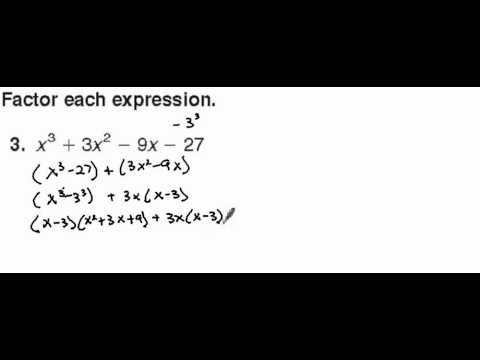 Polynomial Factorization Example 1