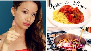 Easy Recipe!!! Organic Quinoa Pasta to La Vie En Rose- LYRICS & RECIPES