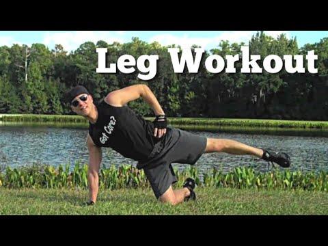 killer leg workout using bodyweight butt  thigh workout