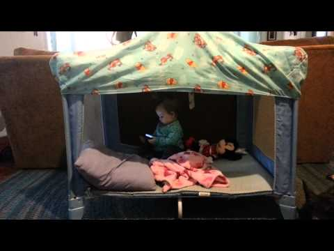 Peyton playing in her new play house!