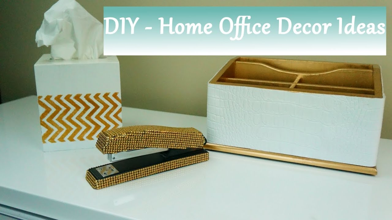 DIY: Home Office Accessories Ideas   YouTube