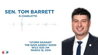 Sen. Barrett talks with Dave Akerly about recent severe weather