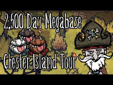 Shipwrecked Megabase - 2500 Day Tour - Chester Island - Don't Starve