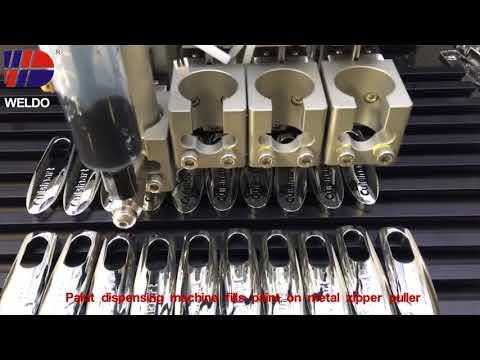 painting metal zipper puller Weldo video 74