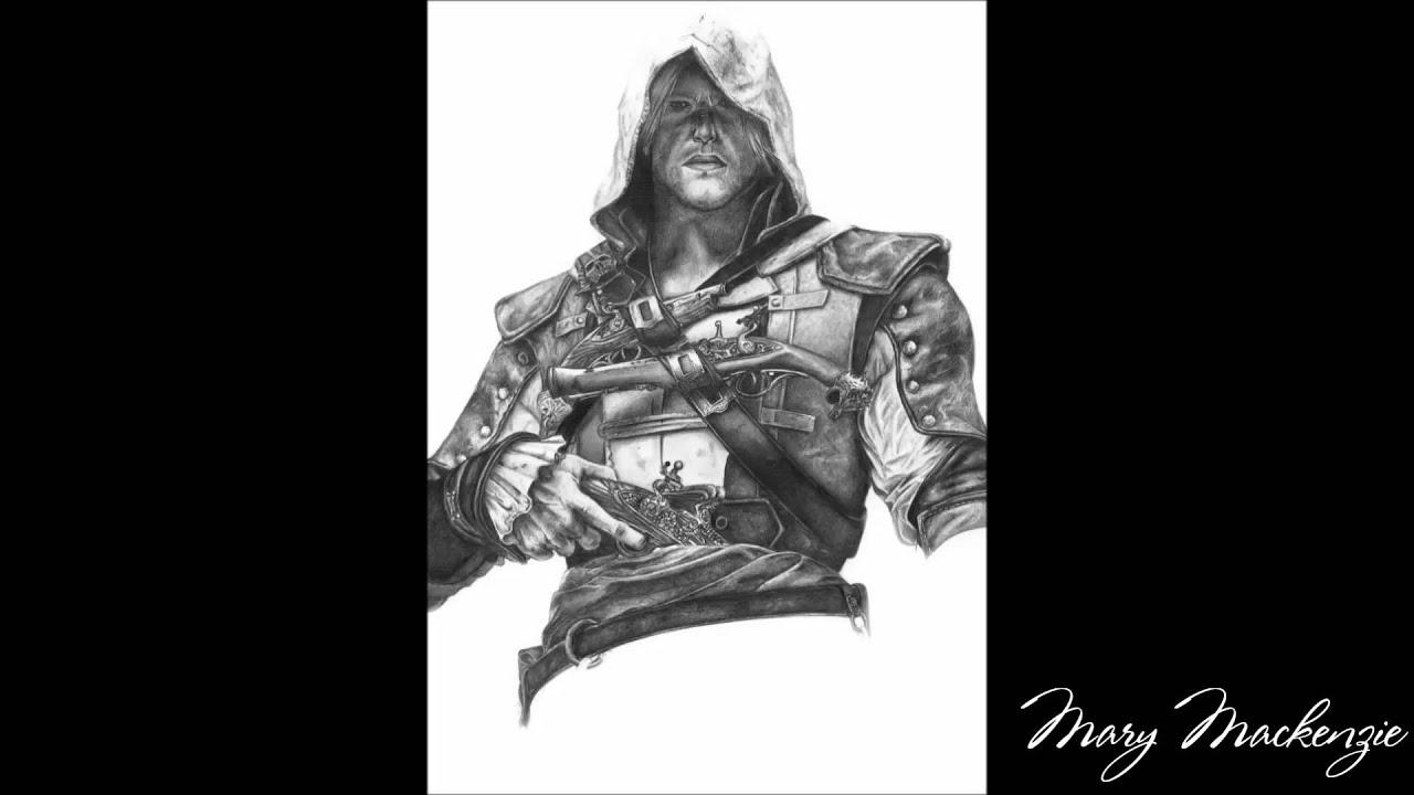 Drawing Edward Kenway Assassins Creed IV Black Flag