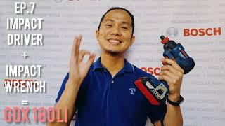 Impact driver and impact wrench in one tool (Bosch GDX 180 Li)