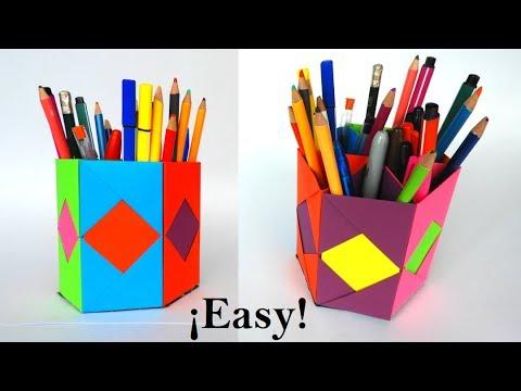 How to Make a Pen Holder / DIY desk organizer