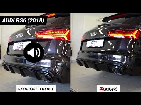 Audi RS6 standard exhaust system vs Akrapovic