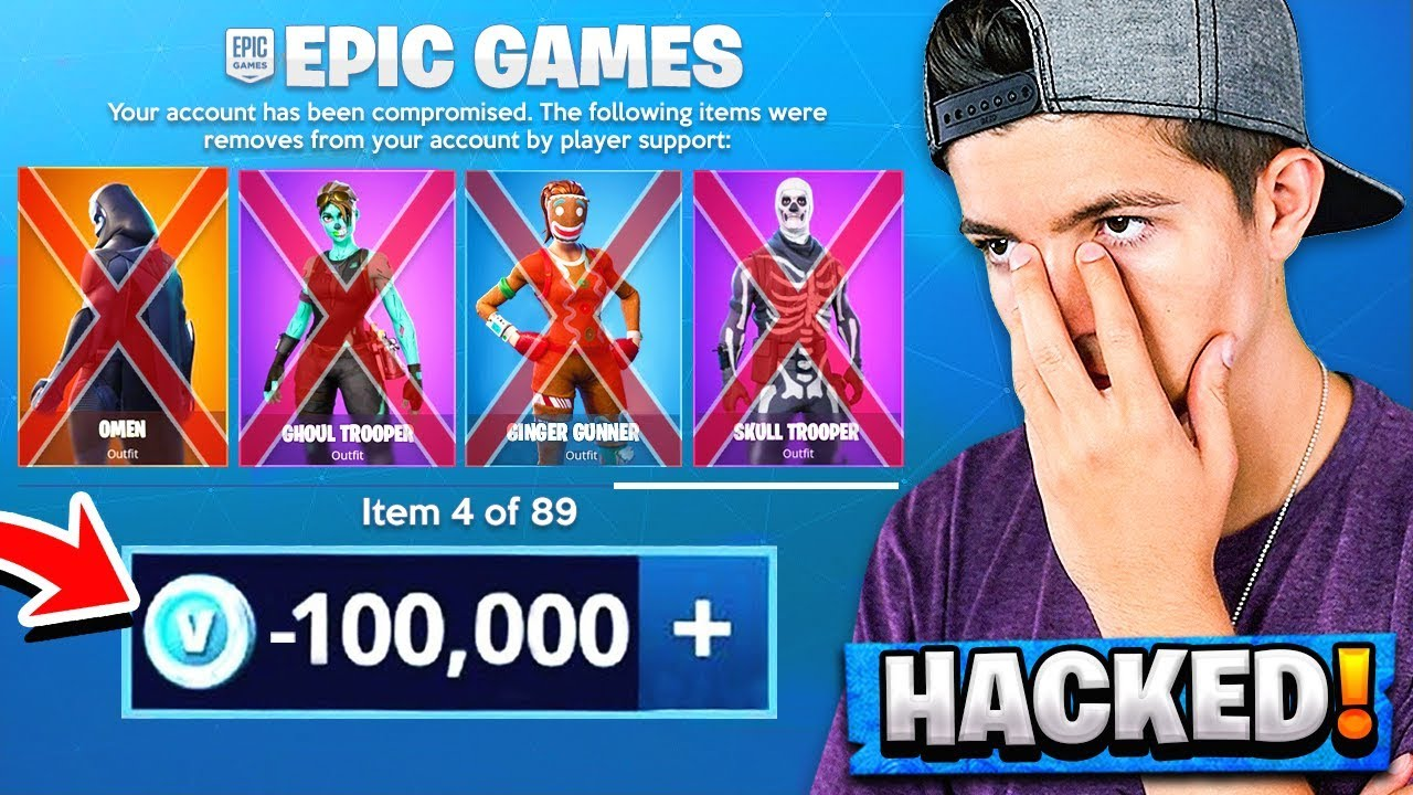 Epic Games Hacked My Account... *LOST HALF MY SKINS* - YouTube