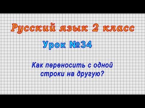 Видео уроки 2 класс русский язык учимся переносить слова